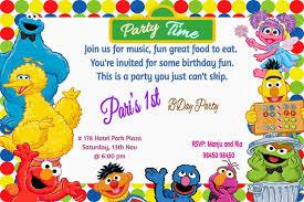 B Day Invitation Cards Cute Muppets Birthday Invitation Card