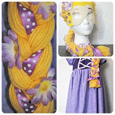 how to make a rapunzel wig from yarn