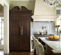 white fridge in kitchen. minneapolis white fridge with traditional pot fillers kitchen and chandelier marble island in