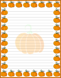free halloween stationery templates free writing page handwriting pages thanksgiving writing paper