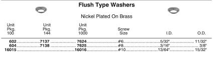 16015 Flush Type Washer 10