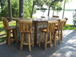 rustic outdoor table and chairs. Rustic Outdoor Bar Furniture Table And Chairs