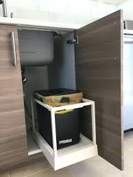 kitchen trash cabinet inspirational remarkable recycling bins and how ikea bin malaysia recycl