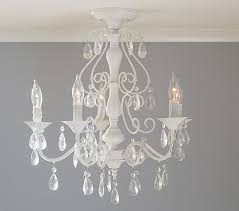 clear alyssa flushmount chandelier