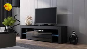 Modern Tv Stands Hmodern Stand Fireplaceid Century Black Console ...