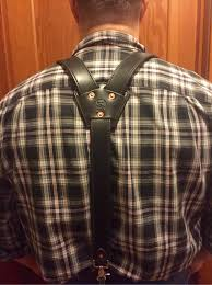 featuring a 3 point design these suspenders attach to your belt loops with your choice of solid brass or stainless steel trigger snapatching conway
