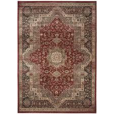 safavieh vintage bijar rust black indoor distressed area rug common 8 x 11