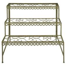 aged etagere metal plant stand the