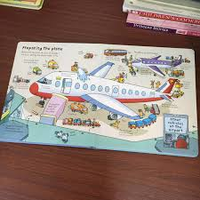 usborne english children s 3d picture flip book look inside an airport book looking through kids baby