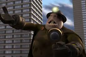 incredibles 2 villain.  Villain The Underminer John Ratzenberger Rises Up To Terrorize The City Of  Metroville In Closing Moments 2004u0027s Incredibles PixarDisney With Incredibles 2 Villain B