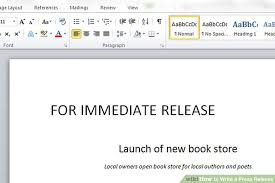 Sample Press Release For Book The 3 Best Ways To Write A Press Release With Example