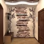 Дизайн стены из камня фото