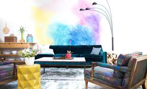 Square Rooms DIY Wall Murals Water Colour