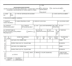 Police Incident Report Template Offense Writing Sample