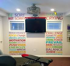 Home Gym - Home gym layout ideas Gym wall decal - http://amzn