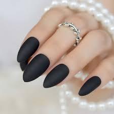 Aliexpresscomのファッションマットプレス爪にクール黒アーモンド偽