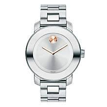 movado watches ladies men s movado designer watches ernest jones movado bold ladies stainless steel silver bracelet watch product number 1452339