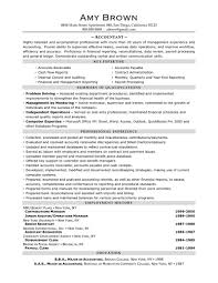 accoutant resumes accountant resume sample by amy brown perfect accountant resume