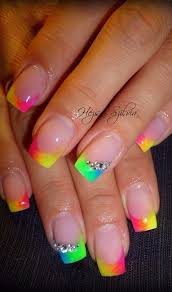 Neon Tip Nails Makopp Nehty A úprava Nehtů