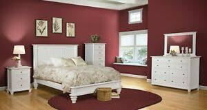 Details about Amish 5-Pc White Bedroom Set Traditional Solid Wood Low Foot Board Queen King