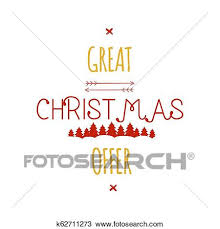 Sale Quote Great Christmas Offer Typography Overlay Xmas Sale