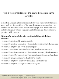 Top 8 vice president of the united states resume samples In this file, ...