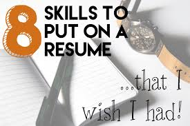 Skills To Put On A Resume That I Wish I Had The Code To Riches