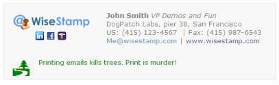 Green Email Signature Footers Email Signatures Free Email