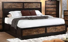 Outstanding Rustic Cal King Platform Storage Bed Home Design Ideas