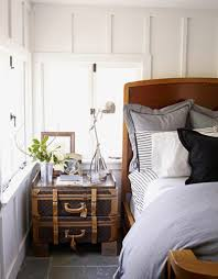 interior design ideas bedroom vintage. Antique Wooden Trunk Side Table For Country Interior Design Ideas Small Bedrooms With Vintage White Wall Color Bedroom I