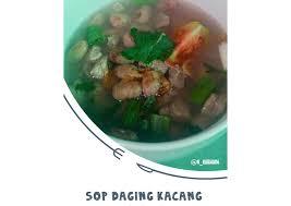 Taburkan daun bawang dan seledri. Resep Sop Daging Kacang Merah Legit Dan Nikmat