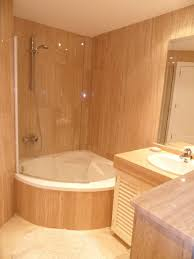 Bathroom Corner Bathtub Shower Combo Small Bathroom Decor With Room Ideas  Renovations Modern Bathrooms By Design