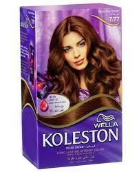 koleston hair color kit 7 77 brown image