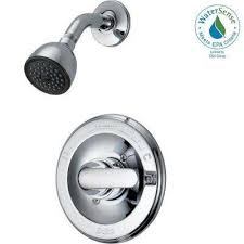 classic single handle 1 spray shower only faucet in chrome valve included