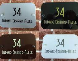 personalised modern house sign door