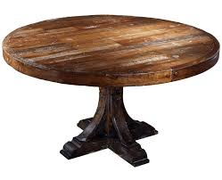 smart dining room furniture octagon stone rustic espresso varnished beige rubber wood reclaimed large round table