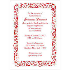 Party Borders For Invitations Details About 25 Personalized Retirement Party Invitations Rpit 05 Decorative Border Red