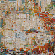 Laurie Frick: January, 54in x 72in, found postcards, junk-mail