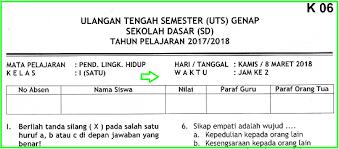 Download file format.docx microsoft word dan pdf. Soal Uts Plh Kelas 4 Semester 1 Dan Kunci Jawaban Ilmusosial Id