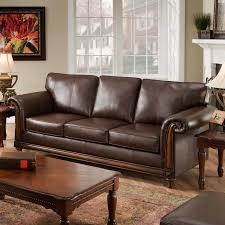 Leather Sofa Makeover Simmons San Diego Coffee Leather Sofa Sofas Loveseats At Hayneedle