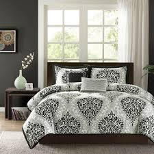 intelligent design senna black white damask collection