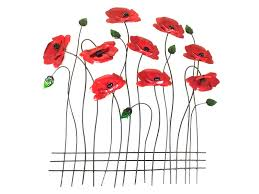 featured photo of poppy metal wall art on bunch of poppies metal wall art with 20 best ideas of poppy metal wall art