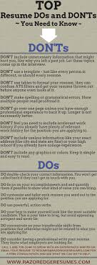 Resume Dos And Don Ts Resume Do's And Don'ts For More Job Search Tips Httpwww 22