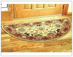 amazing half circle rug and black round catchy kitchen rugs with great