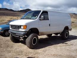 ford van lifted. tommy had the eastern sierras in mind when building his van, just as i did. this van is running ujor 6\ ford lifted 4