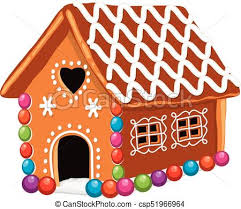 gingerbread house clipart background. Plain Clipart Vector Xmas Colorful Gingerbread House To Clipart Background H