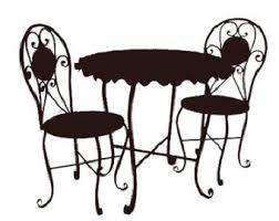 round table and chairs clipart. furniture clipart round table and chairs