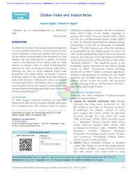 Pdf Citation Index And Impact Factor