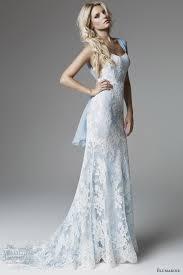 blue lace wedding dress luxury brides