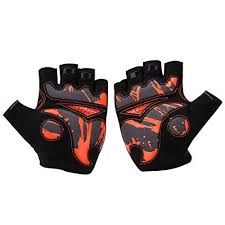 Dilwe 1 Pair Cycling Gloves Short Finger Mitts with ... - Amazon.com